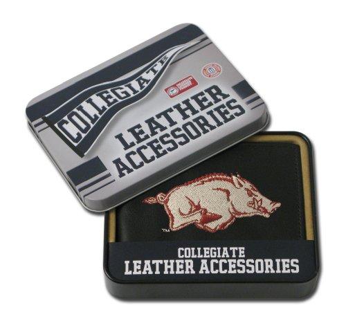 MLB Arkansas Razorbacks Embroidered Genuine Cowhide Leather Billfold Wallet