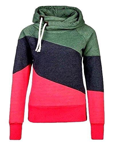 Cappuccio Colori Hoodies Inverno A Camicia Tops Maglie Manica Felpe Pullover Sport Casuale Donna Lunga Misti Con Rose Autunno xCSBqB