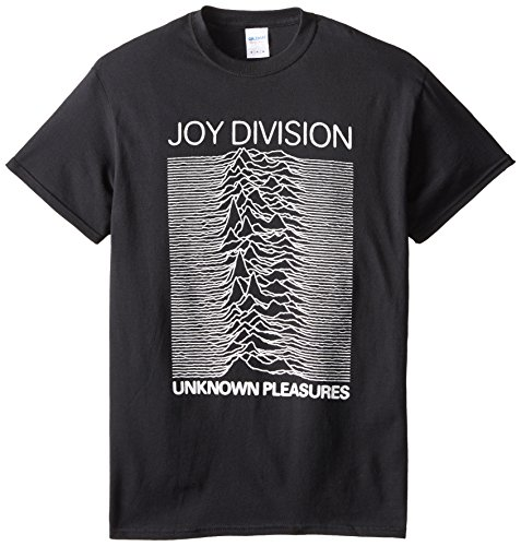 Impact Men's Joy Division Unknown Pleasures T-Shirt, Black, X-Large