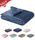 thermal bed cover - Fuzzy blanket or fluffy blanket for baby girl or boy, soft warm cozy coral fleece toddler, infant or newborn receiving blanket for crib, stroller, travel, outdoor, decorative (28 x 40 in, Smoked blue)
