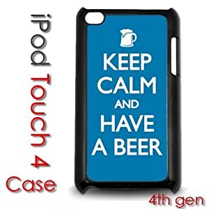 IPod Touch 4 4th gen Touch Plastic Case - Keep Calm and Have a Beer