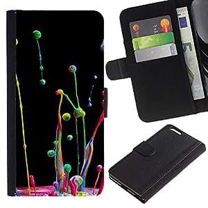 iBinBang / Flip Funda de Cuero Case Cover - Dinámica Cámara lenta gotita de agua - Apple Iphone 6 PLUS 5.5
