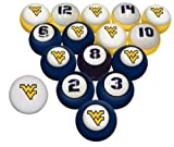 WVU WEST VIRGINIA MOUNTAINEERS NCAA Collegiate Billiards Pool Balls Sets College