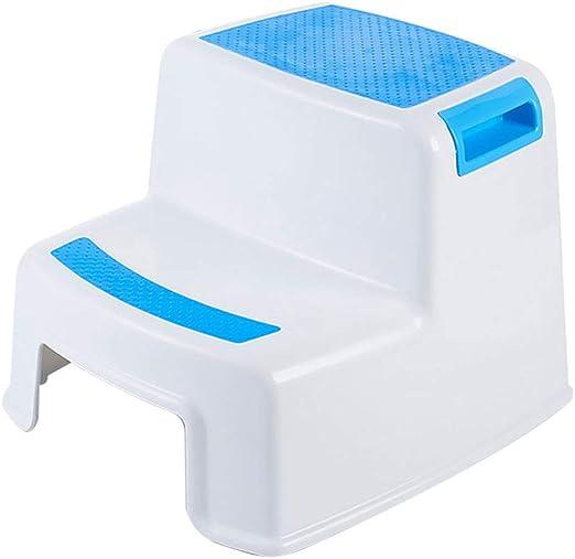 WXL Taburete para niños Pies de plástico Baño Antideslizante Escalera Que Sube Escalera Taburete V (Tamaño : L33CMXW35CMXH26.5CM): Amazon.es: Hogar
