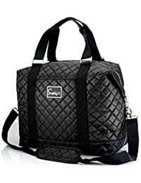 "Travel Weekender Overnight Carry-on Shoulder Duffel Tote Bag w/ Over Handle Trolley Sleeve (16"" or 14 "")"
