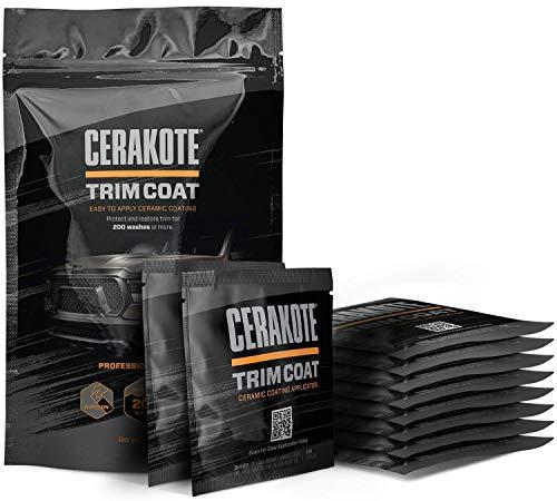 CERAKOTE Ceramic Trim Coat Kit – Quick Plastic Trim Restorer – Guaranteed Restoration to Last Over 200 Washes – A…
