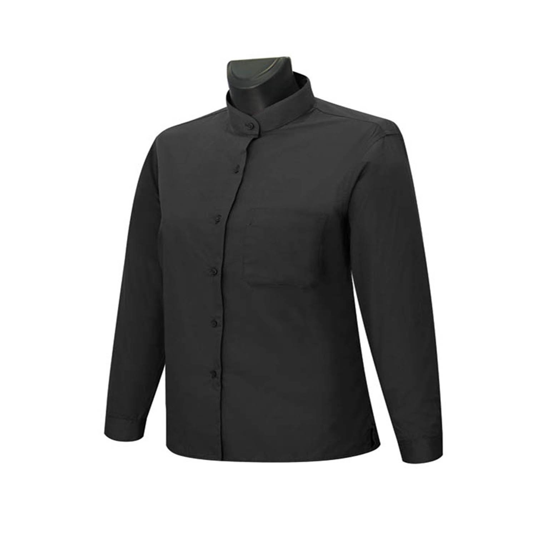 MISEMIYA - Camisa Uniforme Camarera SEÑ ORA Cuello Mao Mangas LARGAS MESERO DEPENDIENTA Barman COCTELERA PROMOTRORAS - Ref.8271