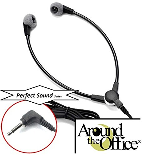 Around The Office Perfect-Sound Transcription Headset Designed to fit Lanier Model LX-219-1 Transcriber