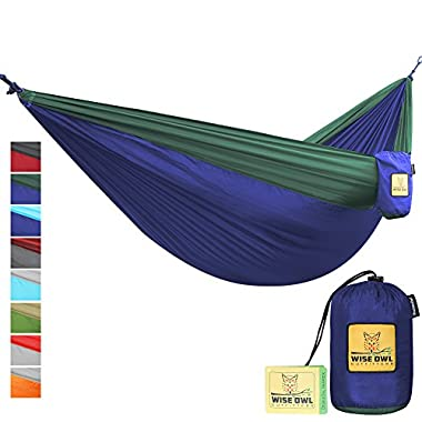 The Ultimate Single & Double Camping Hammocks- The Best Quality Camp Gear For Backpacking Camping Survival & Travel- Portable Lightweight Parachute Nylon Ropes and Carabiners Included! DONBFG