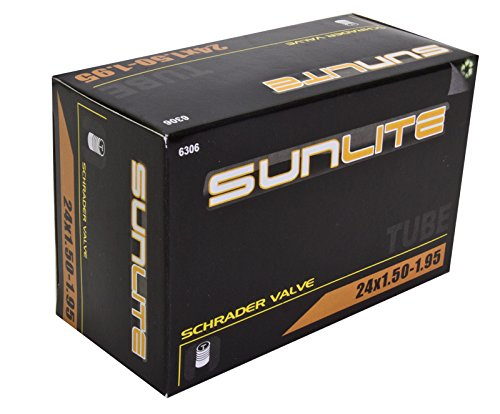 Sunlite Standard Schrader Valve Tubes, 24 x 1.50 - 1.95