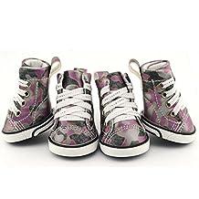 Dofull Camo PU leather pet shoes waterproof non slip(DSN02)-Large purple