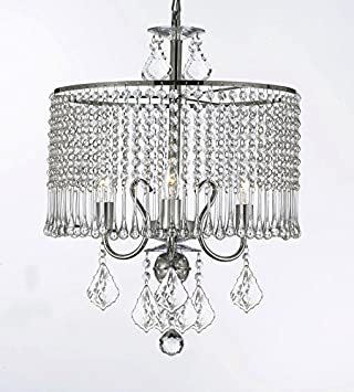 3light crystal chandelier chandeliers lighting with crystal shade swag plug in