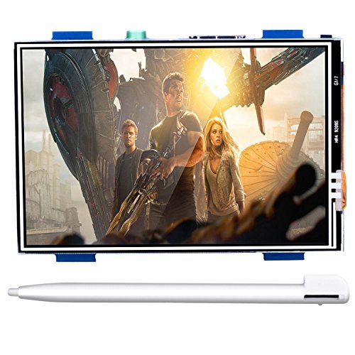 """For Raspberry PI 3 Generation TFT Touch Screen, Kuman 3.5 Inch TFT LCD Display Monitor Support all Raspberry PI System, Video Movie Play, Arcade Game, HDMI Audio Input SC6A (3.5"""" HDMI Screen)"""