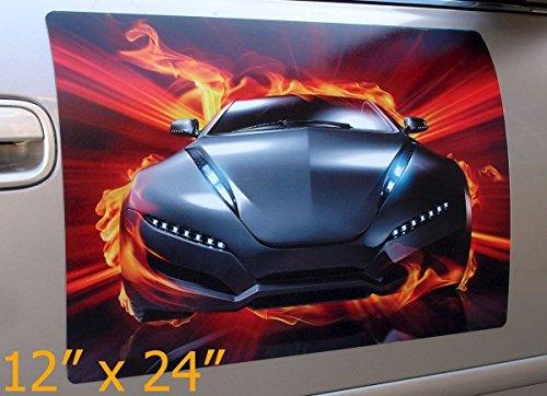 Qiagraphix 2 Pcs (1 pair) 12x24 Custom Car Magnets Magnetic Signs Full Color ()