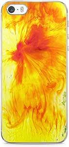 iPhone SE Transparent Edge Phone case Firey Phone Case Orange iPhone SE Cover with Transparent Frame