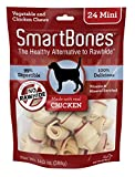 SmartBones Chicken Dog Chew, Mini, 24 pieces/pack,...