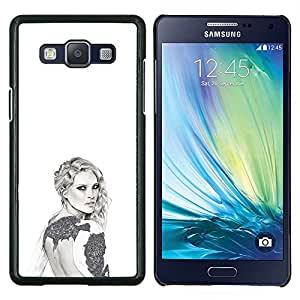 Dragon Case - FOR Samsung Galaxy A5 A5000 A5009 - grey white fashion design art style - Caja protectora de pl??stico duro de la cubierta Dise?¡Ào Slim Fit