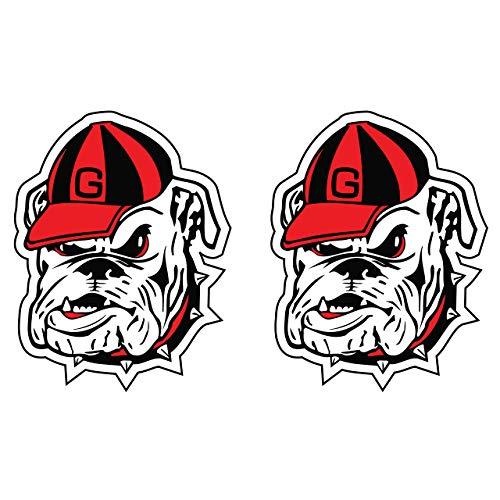 Georgia Bulldogs Decal BULLDOG HEAD 2-PACK DECAL