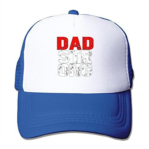 Fortinyro Dad Strong Men's Flexible Mesh Trucker Hat RoyalBlue (Rorschach Hat)