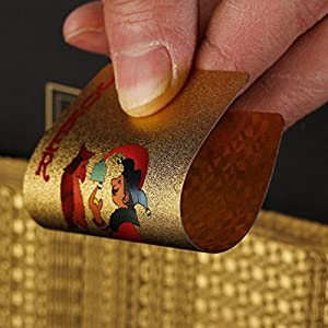 ZAONE Waterproof Plastic PVC Playing Cards Set Poker Card Sets Classic Magic Tricks Tool Poker Playing Card