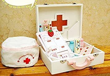 Medicine Cabinet Baby Toys Strawberry Series Play House Cute Children  Doctors And Nurses For Learn
