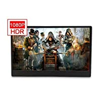 15.6 Inch 1080P HDMI HDR USB 5V Gaming Monitor For PS4 Xbox ones NS Computer Support Filter Blue Light 800g Portable Screen With Speaker VESA Wall Mount