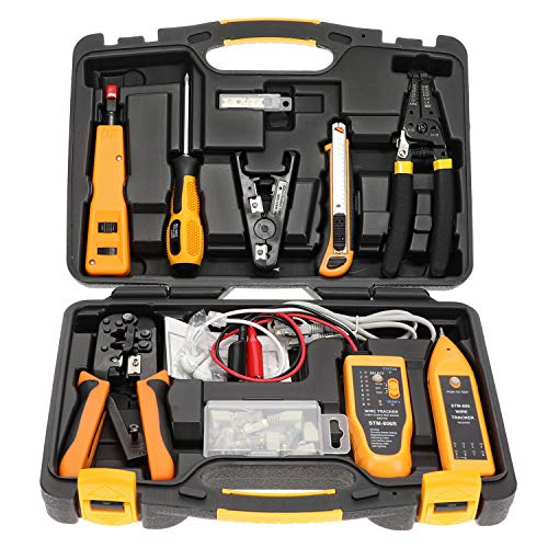 InstallerParts Network Repair Tool Kit 15 In 1 – Electronic Tool Set | Crimping Tool, LAN/Ethernet/Cat5/Cat6 Cable…