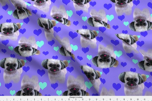 Shih Tzu Fleece (Fabric Shih Tzu by Abridger Printed on Fleece Fabric by the Yard by Spoonflower)