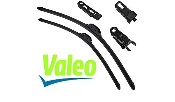 VALEO: Juego de 2 escobillas de limpiaparabrisas planos con rascadores 55/48cm: Amazon.es: Coche y moto