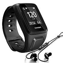 TomTom Spark Cardio+Music Orologio GPS per Fitness, Lettore Musicale e Cardiofrequenzimetro Integrato, Cinturino Large, Nero