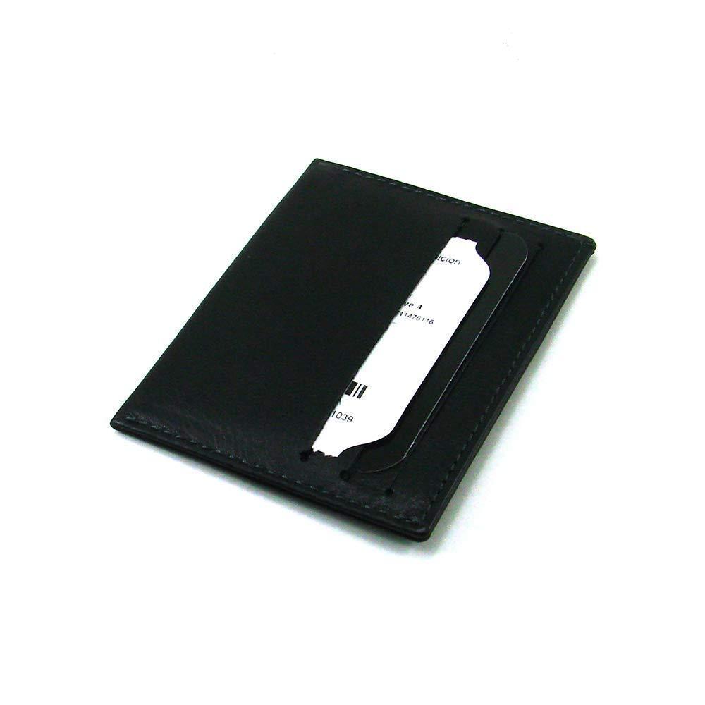 Hergestellt in Spanien Kartenhalter Aus Leder Ref 10005 Schwarz Casanova