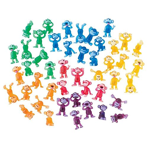 100 Funny Monkey Tiny Plastic Monkey Figures Party Favors for $<!--$7.31-->