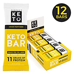Perfect Keto Protein Bars. Keto Snack with 3 net of carbs, No sugar alcohol, dairy, or junk No unnecessary blood sugar spikes