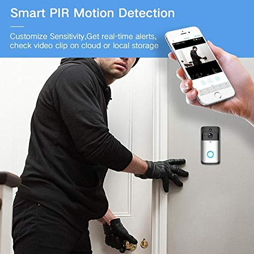 Kaimu Wireless Remote Home Monitoring RIP Motion Detection Smart WiFi Video Doorbell Kits by Kaimu (Image #7)