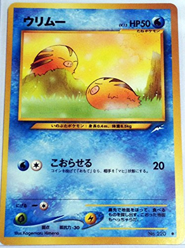Pokemon Card Japanese - Swinub 220 - Neo Destiny (Pokemon Cards 220)