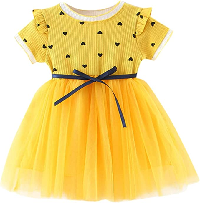 ONES Baby Girls 1st Birthday Tutu Dress Short Sleeve Sunflower Romper Jumpsuit and Bowknot Cake Skirts