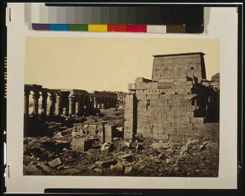 Photo: View on the Island of Philae,Egypt,Colonnades,Temple,Hieroglyphics,Francis - Colonnades Map