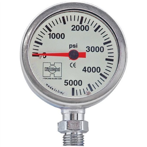 Highland by XS Scuba Brass/Glass Pressure Gauges - 2.0