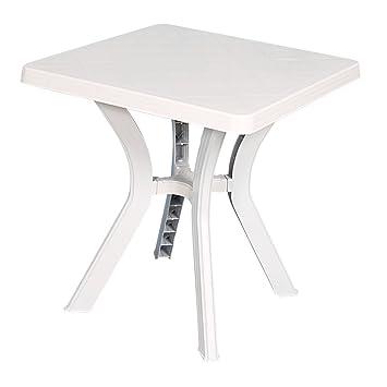 Bo Time Table Carrée de jardin blanche 70x70 cm en Plastique: Amazon ...