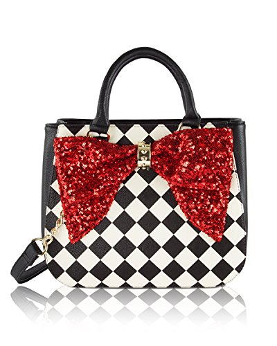 Signature Over Bucket Bag - Betsey Johnson Bow On Bucket Tote Bag - Red