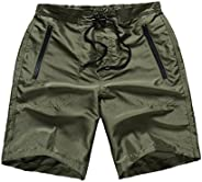 FAFNIR Men Bathing Suit Mesh Lining Contrast Color Swim Trunk Shorts