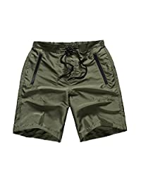 FAFNIR Mens Boardshorts Quick Dry Swim Bathing Suit No Mesh Lining