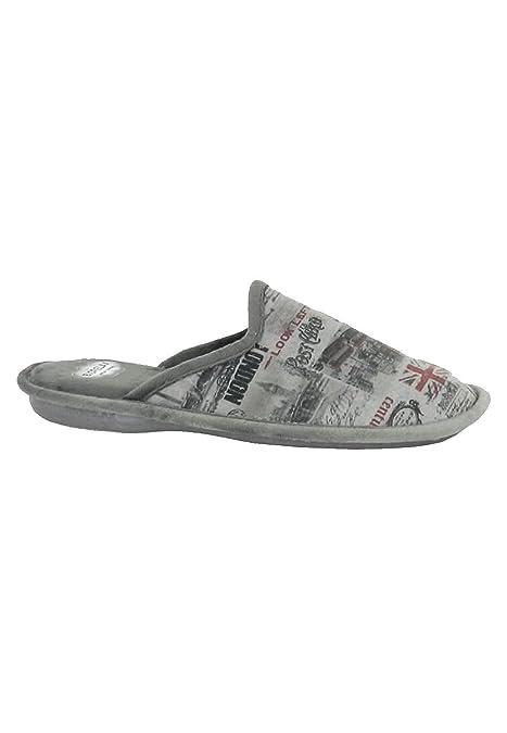 Zapatillas Biorelax - Zapatillas Casa Inglaterra - Gris, 46: Amazon.es: Zapatos y complementos
