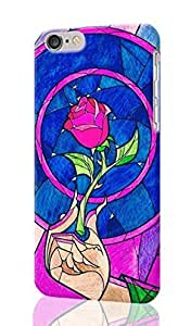 Beauty & The Beast stained glass rose Personalized Diy Custom Unique 3D Rough Hard Case Cover Skin For iPhone 6 Plus 5.5