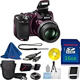 Nikon COOLPIX L830 CMOS with 34x Zoom Lens (Plum) (White Box Packaging) DBPREMIUM Camera Bundle with High Speed 16GB DBPREMIUM Memory Card + Card Reader + DBPREMIUM Starter Kit + 9pc Accessory Kit