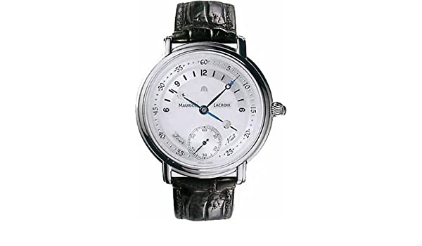 Amazon.com: Maurice Lacroix Masterpiece Jour et Nuit Mens Watch MP7058-SS001-190: Watches
