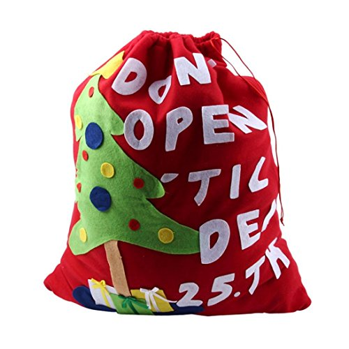 AIMTOPPY Large Size Red Christmas Tree Santa Claus Christmas Candy Gift Bag Gift Sacks