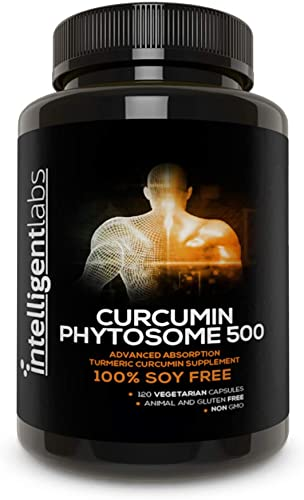 500MG Meriva Curcumin Phytosome, 2900 Better Absorbed Than Ordinary Turmeric Curcumin 100 Soy Free, 120 Capsules Per Bottle, Tumeric Curcumin Phytosome Complex