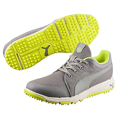 PUMA Men's Grip Sport Golf Shoe, Black/White, 10 Medium