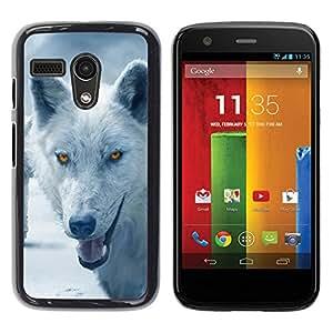 LOVE FOR Motorola Moto G 1 1ST Gen Wolf Arctic Winter Furry Canine Beast Personalized Design Custom DIY Case Cover